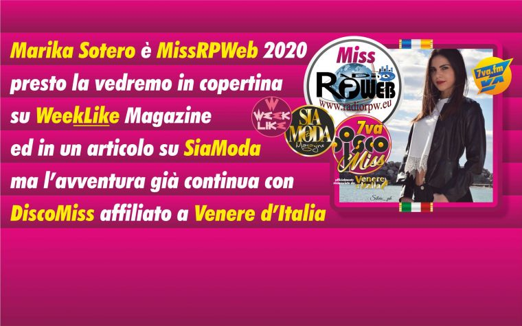 Marika Sotero è Miss Radio RP Web