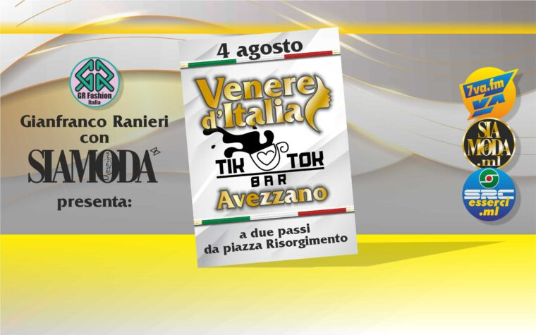 Gianfranco Ranieri, fissa per il 4 agosto la 1a data marsicana VenereTourAbruzzo!