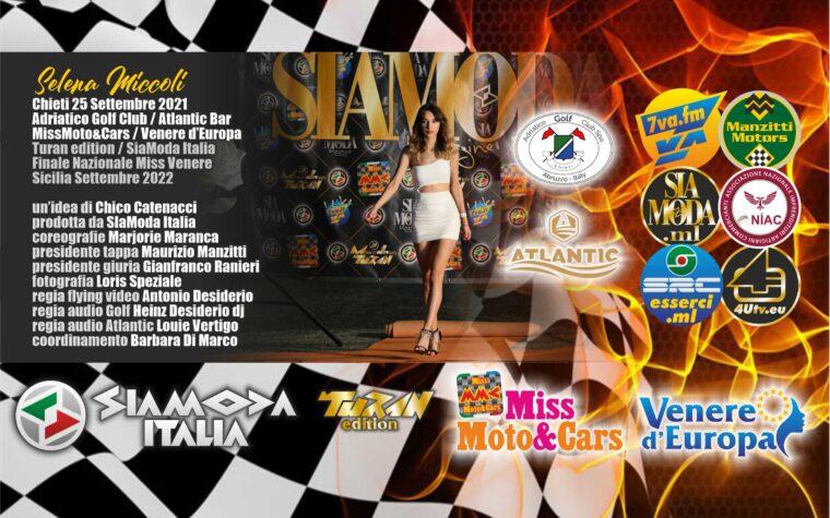 """Venere d'Europa Folgorante! Al Golf Club Adriatico ed all'Atlantic Bar Fascia """"Titanio"""" SiaModa Magazine per Selena Miccoli"""